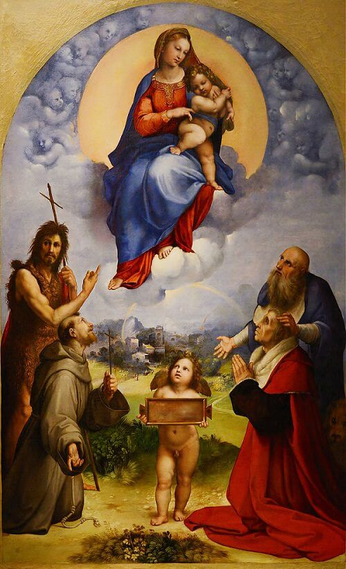 Madonna of Foligno - by Raphael