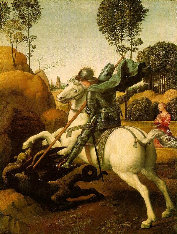 St. George and the Dragon - by Raphael