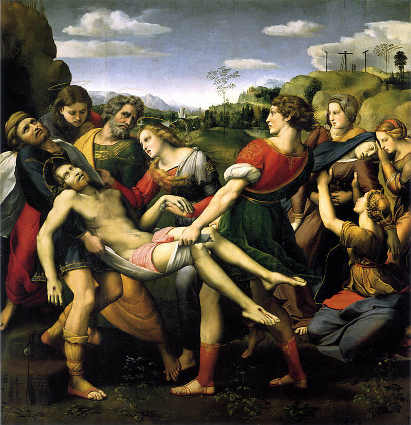 The Entombment, 1507 - by Raphael